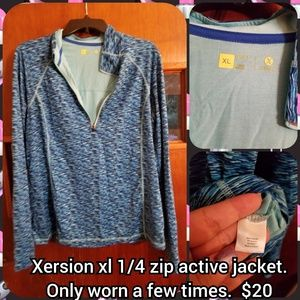 Xersion size Xl 1/4 zip active jacket